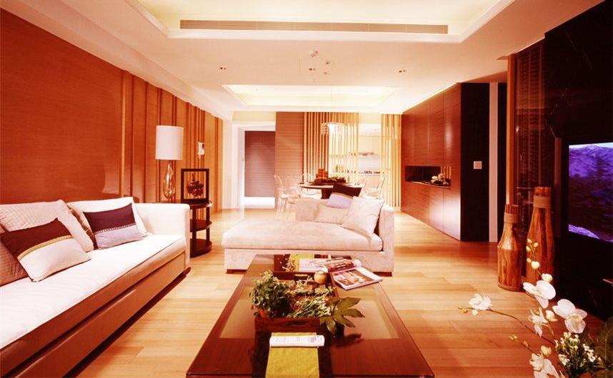 现代中性暖色家居装饰效果图