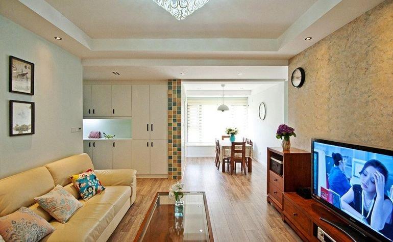 清新乡村美式 三室两厅效果图