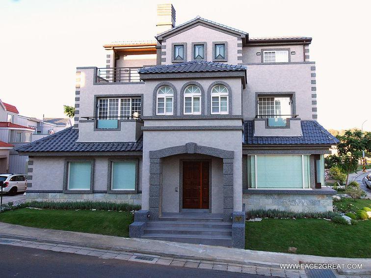 复古简欧风别墅外墙设计