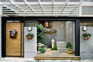 日式自然风混搭小别墅效果图
