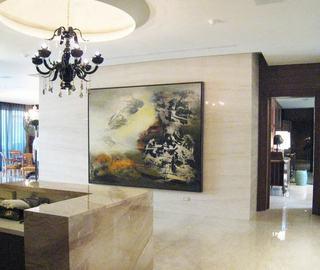 欧式室内背景墙艺术画效果图