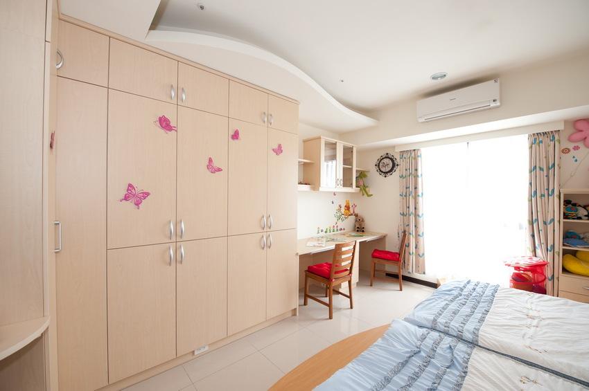 现代儿童房整体衣柜效果图