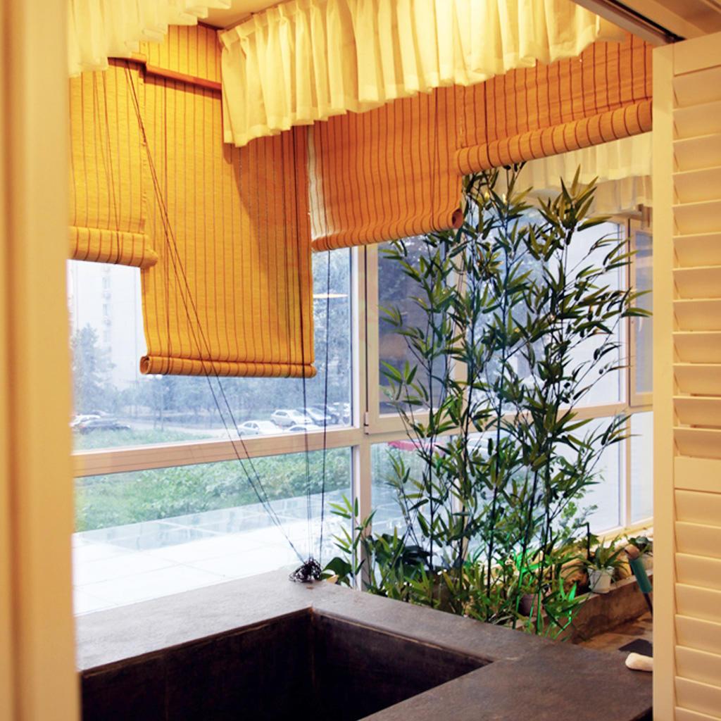 文艺北欧风小阳台窗帘设计