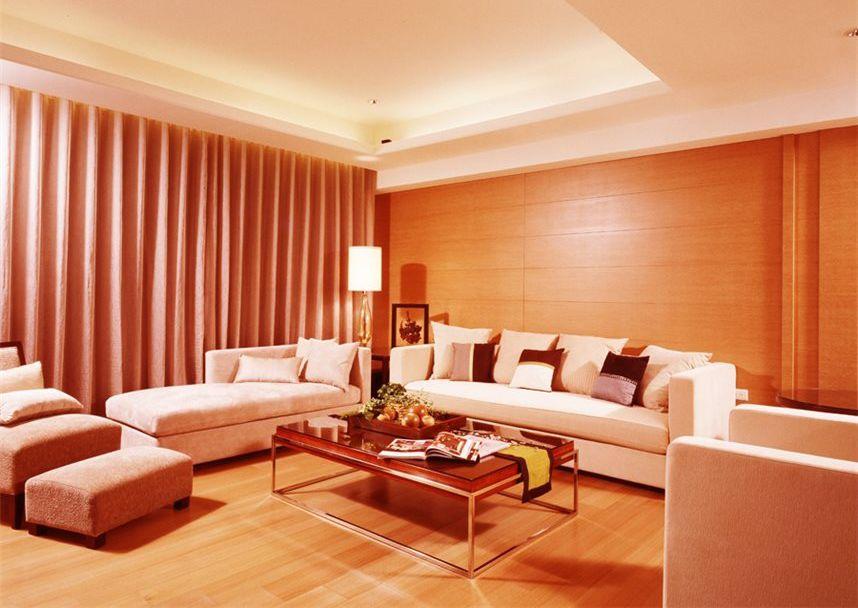 温馨暖色现代风客厅效果图