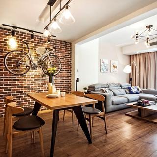 个性艺术北欧风格两居室设计装潢图片