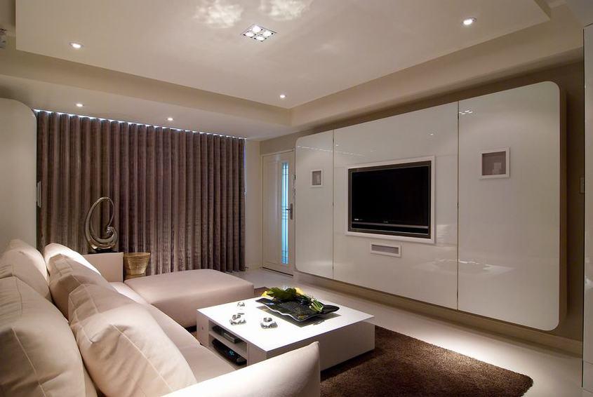 时尚现代客厅 电视背景墙设计图