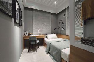 时尚灰色系简欧风 小卧室设计