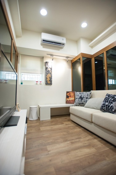简洁北欧风格室内实木地板装饰效果图