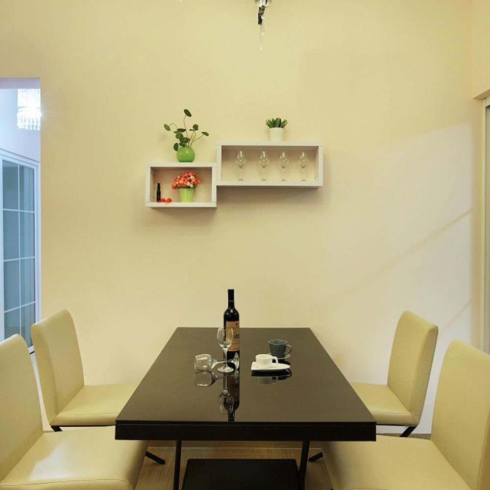 温馨简约餐厅墙面隔板设计