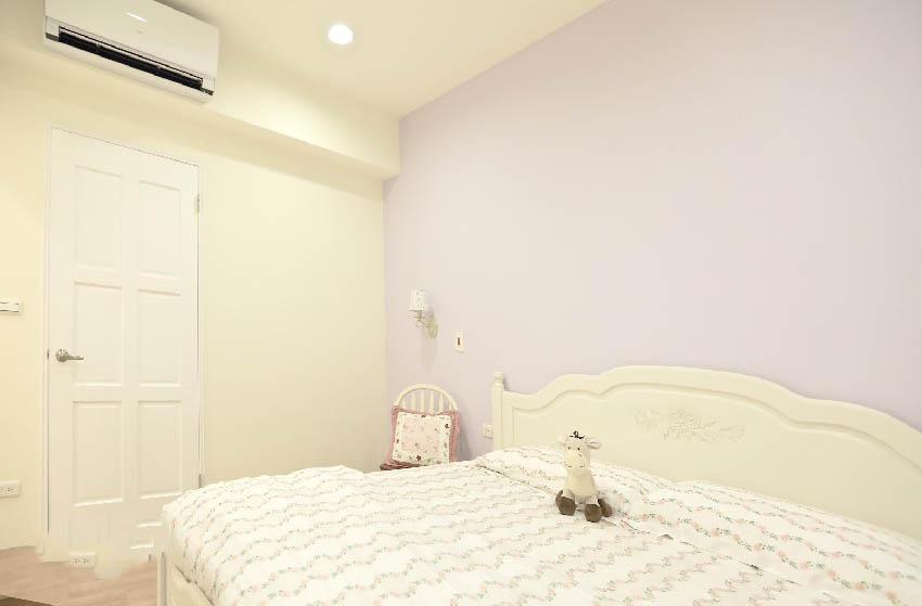极简韩式白色卧室效果图