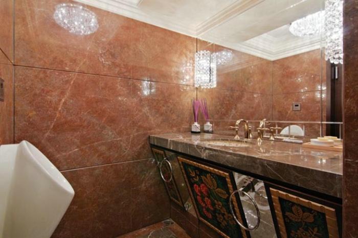欧式古典装修家居卫生间洗手台装潢效果图