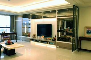 摩登现代110平三居装饰设计