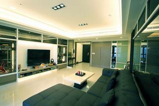 现代家装客厅吊顶案例图