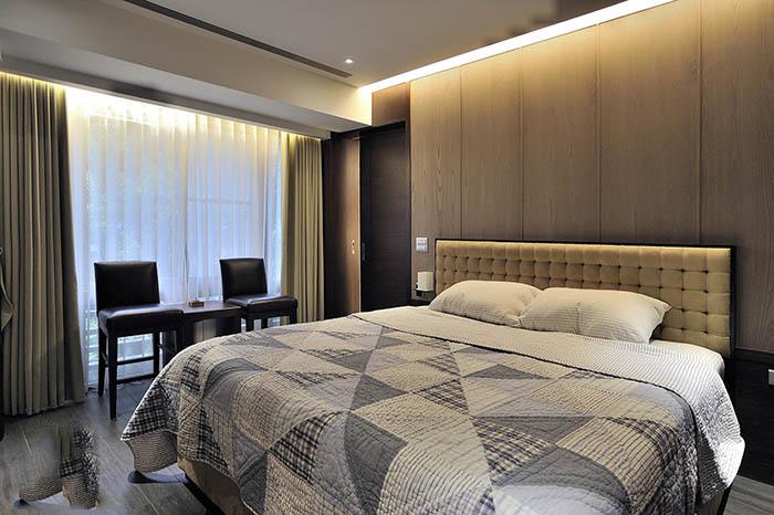 时尚现代卧室灯带设计