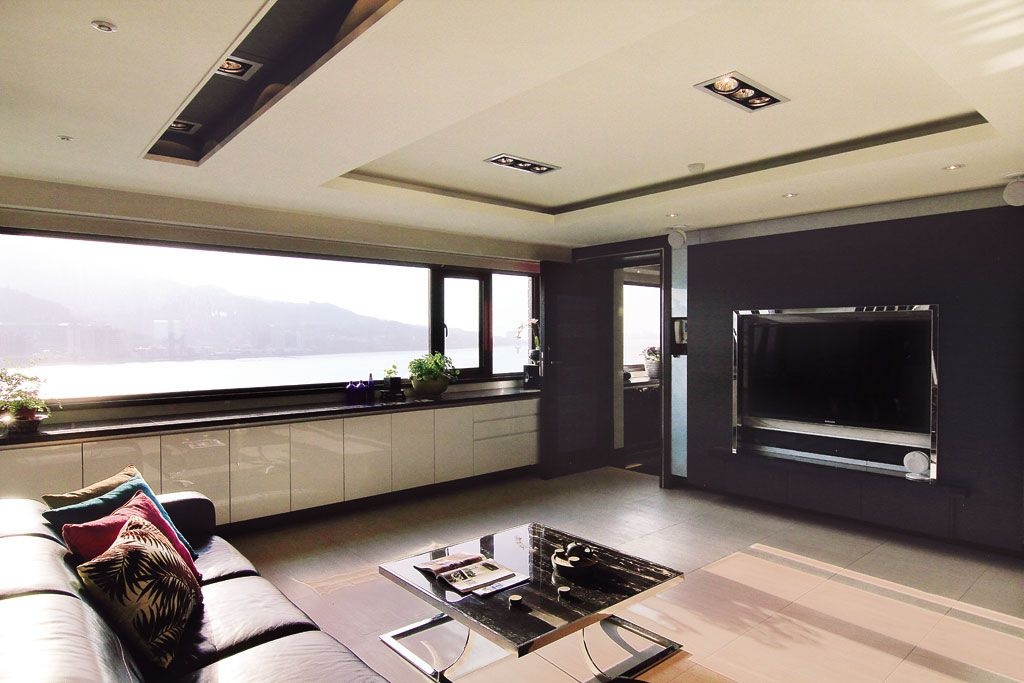 时尚黑色系现代风 海景房公寓效果图