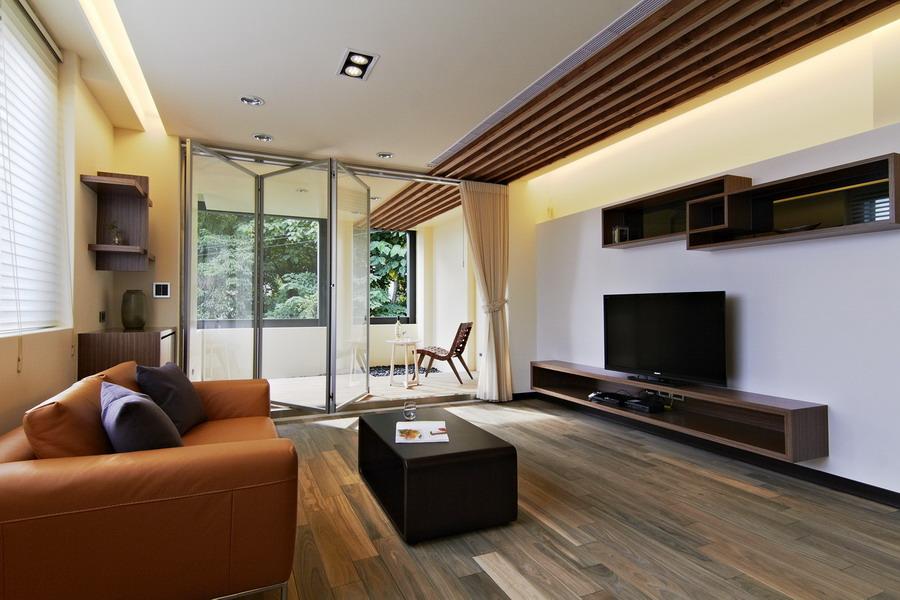 现代设计客厅折叠门隔断装饰