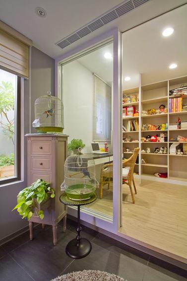 田园装饰风格家居室内玻璃隔断设计图