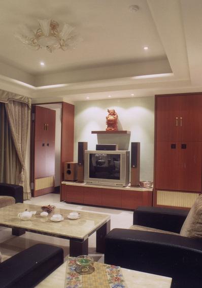 美式客厅实木电视柜设计