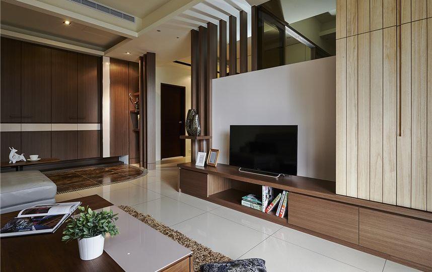 美式装修松木电视柜效果图