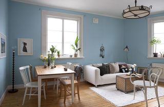 唯美蓝色北欧风情 小公寓装潢设计