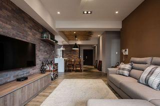 古朴美式风格三居室内装潢图
