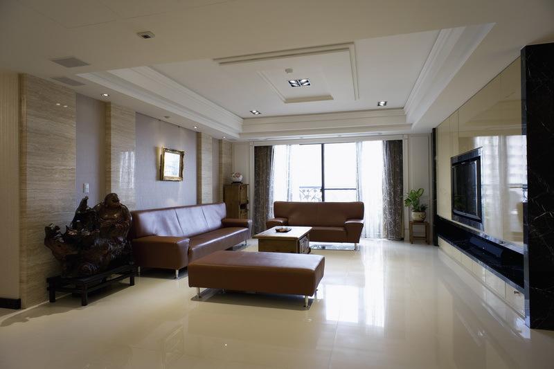 时尚简约现代公寓客厅精装图