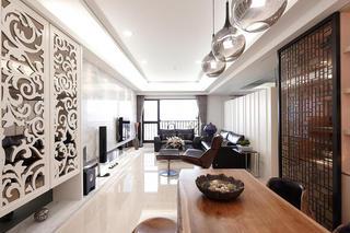 120平大气简约现代公寓装修效果图