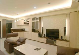 现代75平二居室内装饰效果图
