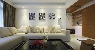 118平时尚现代风 三居装饰设计