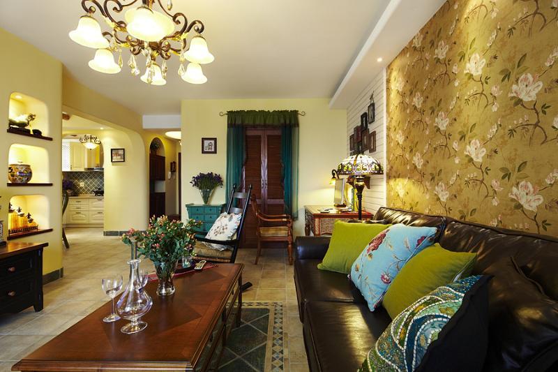 东南亚装潢风格家居室内空间布局效果图