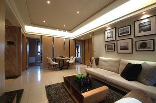 现代简约装修110平三居室设计