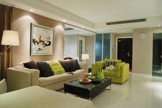 舒适现代风三室两厅效果图