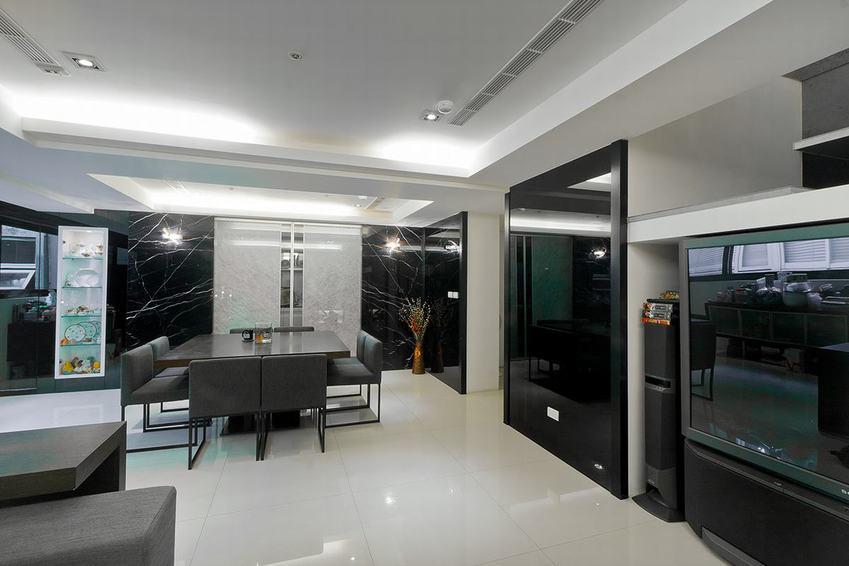黑白灰现代四室两厅装饰图片