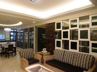 现代美式风格两居装修图
