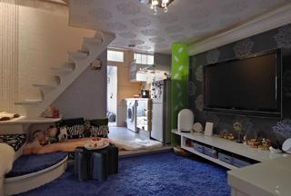 简约创意现代小户型复式室内装修设计图