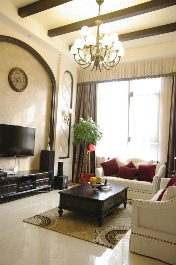 古典欧式风格家居客厅吊灯装饰效果图