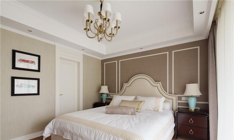 法式简欧风格卧室装修图