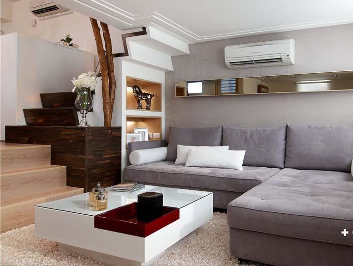 简约宜家风 小复式沙发效果图
