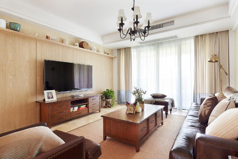 复古美式混搭两室两厅设计图