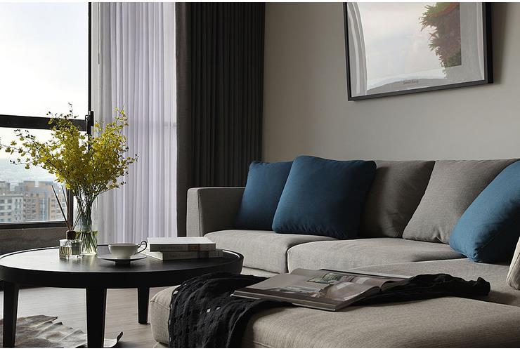 简约现代风客厅布艺沙发设计
