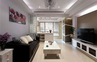 时尚简欧风格三居室装修设计