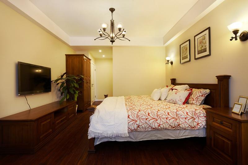 复古美式卧室 实木家居装饰大全