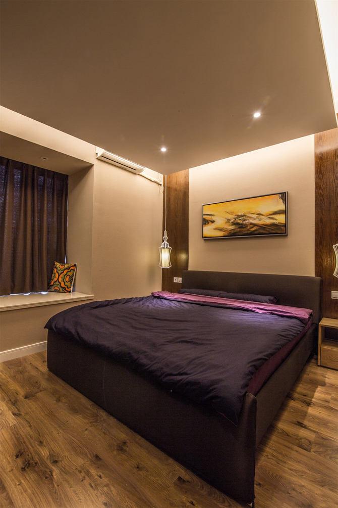 简美式卧室吊顶效果图