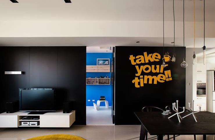 创意北欧风电视背景墙效果图