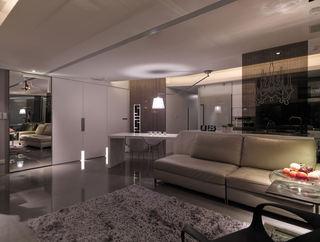 黑白现代中西混搭风 公寓效果图
