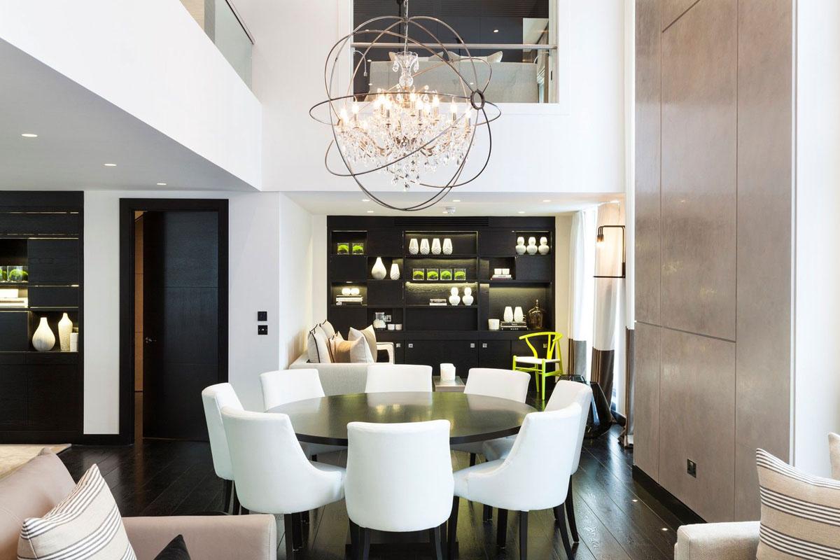 时尚奢华黑白现代风餐厅家装设计