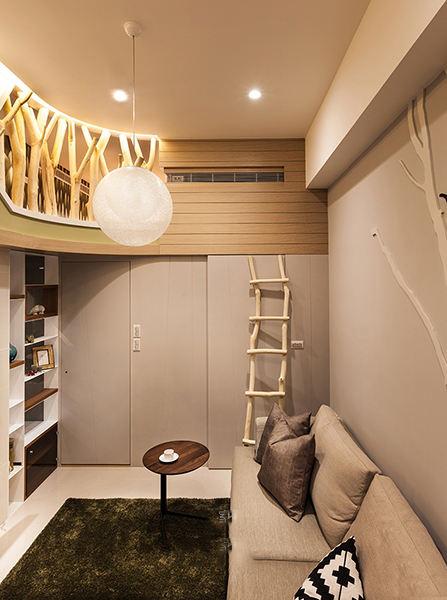 现代风格跃层复式休息区装修效果图