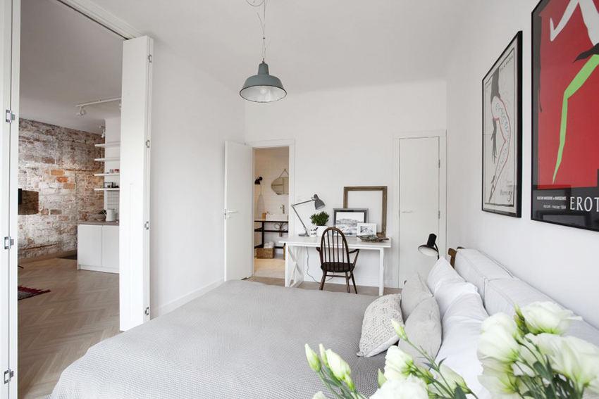 白色简约北欧卧室效果图