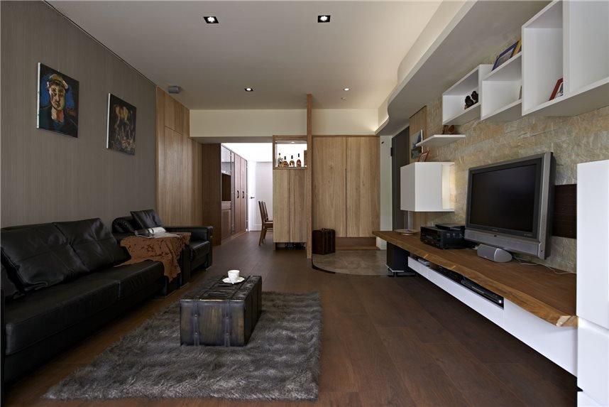 实木简约现代装修风格三室两厅装潢图片