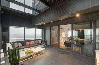 别墅室内阳台美式风格装修效果图